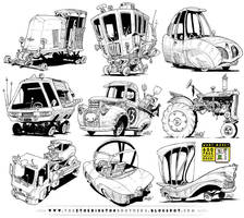 9 Monster Vehicle concepts by EtheringtonBrothers