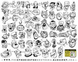 59 Science Fiction Character Designs by EtheringtonBrothers