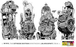 4 very TALL vehicles by STUDIOBLINKTWICE