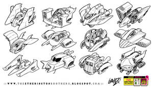 12 speeder hovership designs and concepts by STUDIOBLINKTWICE