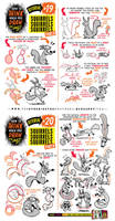 How to Draw SQUIRRELS RODENTS tutorial by STUDIOBLINKTWICE