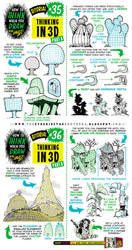 How to draw in 3D THREE DIMENSIONS tutorial by EtheringtonBrothers