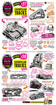 How to draw CATERPILLAR and TANK TRACKS tutorial by EtheringtonBrothers