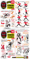 How to draw RUNNING FIGURES + CHARACTERS tutorial by EtheringtonBrothers