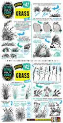 How to draw GRASS tutorial by STUDIOBLINKTWICE