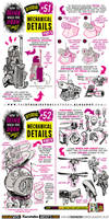 How to draw MECHANICAL DETAILS tutorial by EtheringtonBrothers