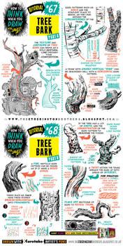 How to draw TREE BARK tutorial by STUDIOBLINKTWICE