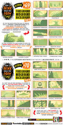 How to draw FOREGROUND MIDGROUND BACKGROUND by STUDIOBLINKTWICE