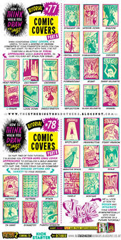 How to draw COMIC COVERS tutorial by STUDIOBLINKTWICE