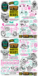 How to draw MONSTER HEADS and FACES tutorial by EtheringtonBrothers