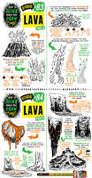 How to draw LAVA and VOLCANOES tutorial by STUDIOBLINKTWICE