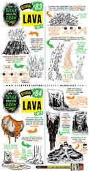 How to draw LAVA and VOLCANOES tutorial by EtheringtonBrothers