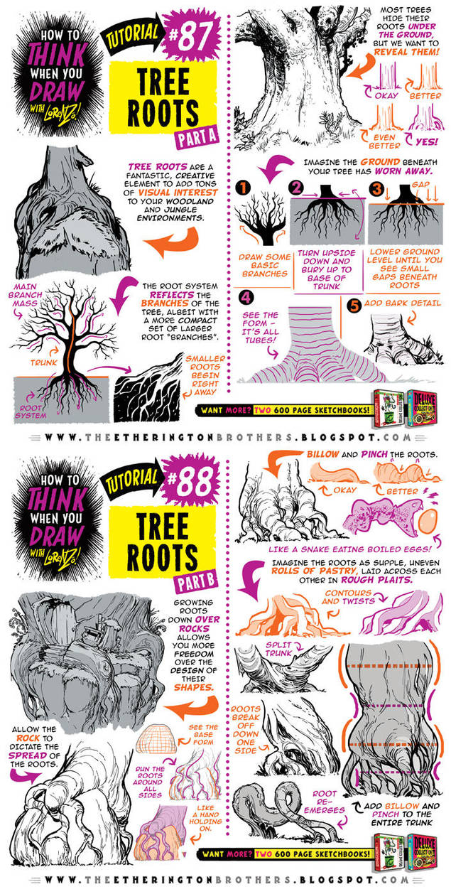 How To Draw Tree Roots Tutorial By Etheringtonbrothers On Deviantart