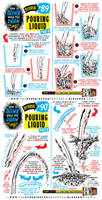 How to draw POURING LIQUID and WATER tutorial by STUDIOBLINKTWICE