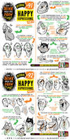 How to draw HAPPY EXPRESSIONS tutorial by STUDIOBLINKTWICE