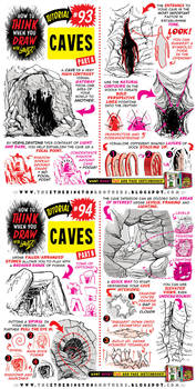 How to draw CAVES and CAVERNS tutorial by STUDIOBLINKTWICE
