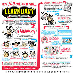 Here's how YOU can JOIN IN with #LEARNUARY! by STUDIOBLINKTWICE