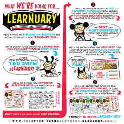 #LEARNUARY - an ENTIRE MONTH of FREE TUTORIALS! by STUDIOBLINKTWICE