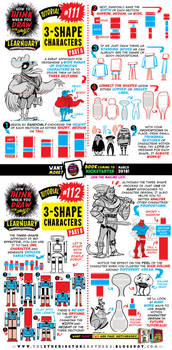 How to draw THREE-SHAPE CHARACTERS tutorial by STUDIOBLINKTWICE