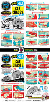 How to draw CAR CHASES tutorial by STUDIOBLINKTWICE