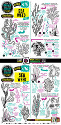 How to draw SEAWEED tutorial by STUDIOBLINKTWICE