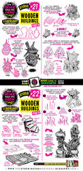 How to draw WOODEN HOUSES tutorial by EtheringtonBrothers