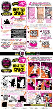 How to draw NEGATIVE SPACE tutorial by STUDIOBLINKTWICE