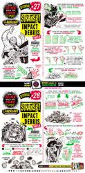 How to draw IMPACT DEBRIS tutorial by STUDIOBLINKTWICE