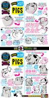 How to draw PIGS tutorial by STUDIOBLINKTWICE