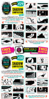 How to draw SHADOW COMPOSITIONS tutorial by EtheringtonBrothers