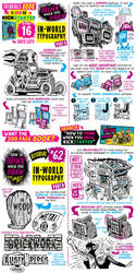 How to draw IN-WORLD TYPOGRAPHY - KICKSTARTER! by EtheringtonBrothers