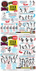How to draw STICK FIGURES tutorial by STUDIOBLINKTWICE