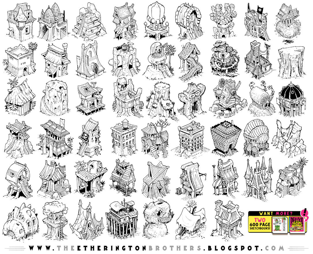 52 BUILDING DESIGNS! by EtheringtonBrothers