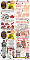 How to draw SMALL, MEDIUM, LARGE tutorial by EtheringtonBrothers