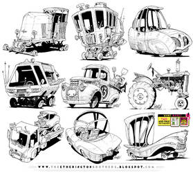 6 GIANT VEHICLE REFERENCES! by STUDIOBLINKTWICE