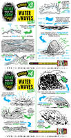 How to draw SEA WATER and WAVES tutorial by EtheringtonBrothers