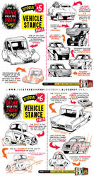 How to draw VEHICLE STANCE tutorial by STUDIOBLINKTWICE