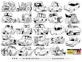 24 VEHICLE REFERENCES! by STUDIOBLINKTWICE