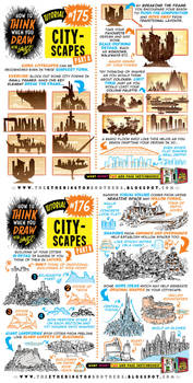 How to draw CITYSCAPES tutorial by STUDIOBLINKTWICE