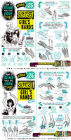 How to draw HANDS (parts 1 and 2) tutorial by STUDIOBLINKTWICE