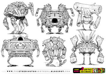 6 WOODEN ROBOT references! by STUDIOBLINKTWICE