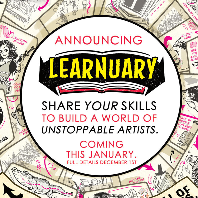 Announcing LEARNUARY an ENTIRE MONTH of TUTORIALS! by STUDIOBLINKTWICE