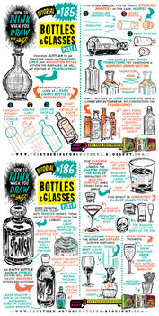 How to THINK when you draw BOTTLES and GLASSES by STUDIOBLINKTWICE