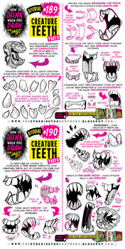 How to THINK when you draw CREATURE TEETH tutorial by STUDIOBLINKTWICE