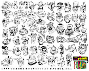 59 MONSTER and CREATURE HEAD references! by STUDIOBLINKTWICE