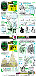 How to THINK when you draw IN 3D tutorial by STUDIOBLINKTWICE