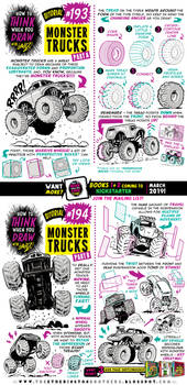 How to think when you draw MONSTER TRUCKS tutorial by STUDIOBLINKTWICE