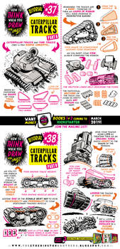 How to THINK when you draw CATERPILLAR TRACKS by STUDIOBLINKTWICE