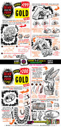 How to draw GOLD for #LEARNUARY! by EtheringtonBrothers