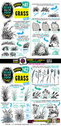 How to draw GRASS for #LEARNUARY! by STUDIOBLINKTWICE
